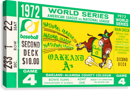 1972 world series oakland athletics  Canvas Print