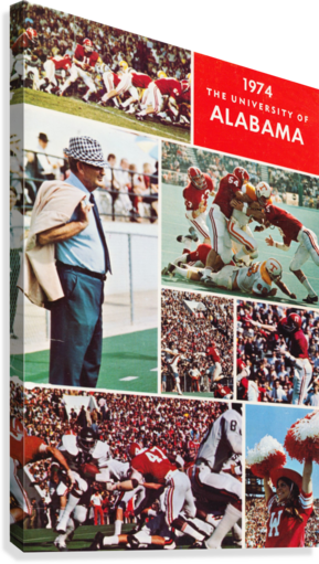 1974 Alabama Football Print  Canvas Print
