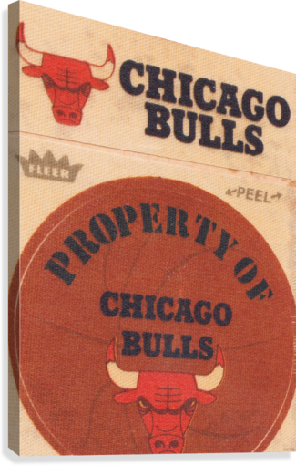 1974 CHICAGO BULLS FLEER DECAL ART ROW ONE BRAND  Canvas Print