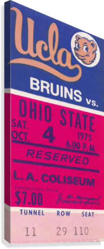 1975 UCLA VS. OHIO STATE ROW ONE BRAND  Canvas Print