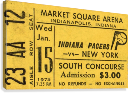 1975_American Basketball Association_New York Nets vs. Indiana Pacers_Market Square Arena_Row One  Canvas Print