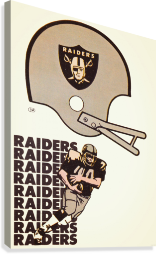 1976 Oakland Raiders Art  Canvas Print