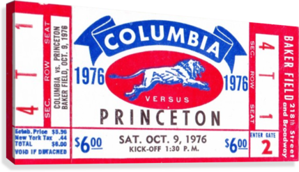 1976_College_Football_Columbia vs. Princeton_Baker Field_New York City_Row One  Canvas Print
