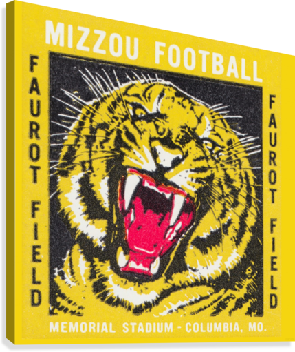 1977 Mizzou Football  Canvas Print