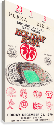 1979 HOLIDAY BOWL INDIANA WIN ROW ONE BRAND  Canvas Print