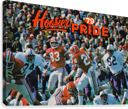 1979 Indiana Hoosiers Football Art  Canvas Print