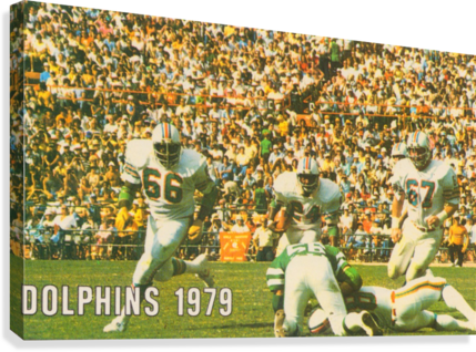1979 MIAMI DOLPHINS ART ROW ONE BRAND  Canvas Print