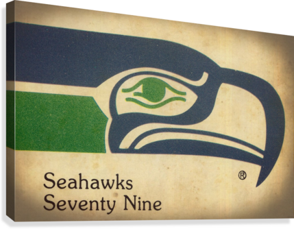 1979 SEATTLE SEAHAWKS ART ROW ONE BRAND  Canvas Print