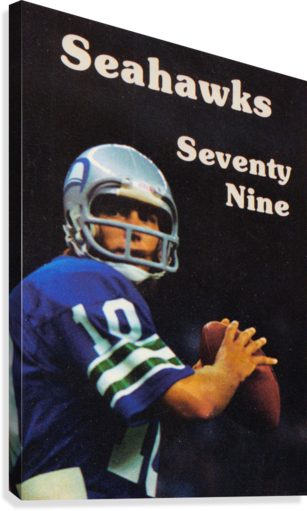 1979 SEATTLE SEAHAWKS JIM ZORN POSTER ROW ONE BRAND  Canvas Print