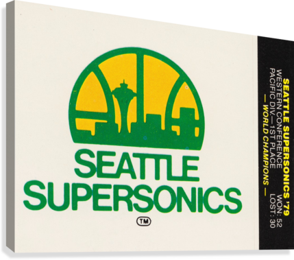 1979 Seattle Supersonics Fleer Decal  Canvas Print