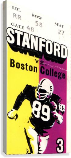 1979_College_Football_Boston College vs. Stanford_Palo Alto_Row One Brand College Art  Canvas Print
