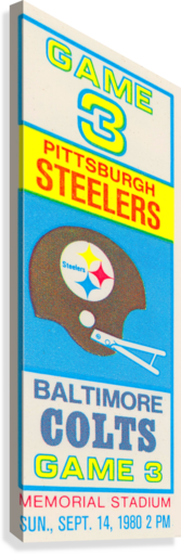 1980 Baltimore Colts vs. Pittsburgh Steelers  Canvas Print
