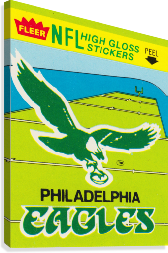 1981 fleer nfl high gloss stickers philadelphia eagles wall art  Canvas Print