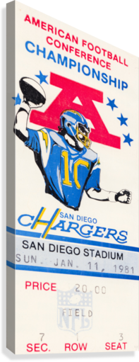 1981 Oakland Raiders vs. San Diego Chargers   Canvas Print