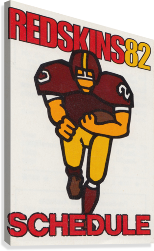 1982 Washington Redskins NFL Football Schedule Art Poster Row One Brand  Canvas Print