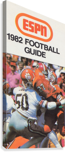 1982 ESPN College Football Guide Poster  Canvas Print