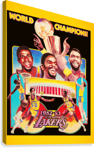 1982 LA Lakers Champion Poster  Canvas Print