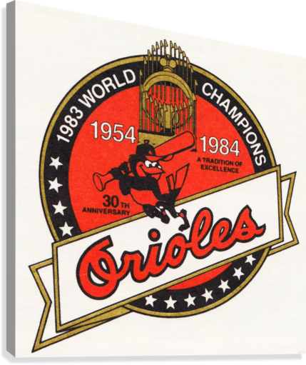 1983 Baltimore Orioles World Champions Art  Impression sur toile