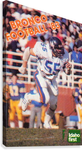 1983 Boise State Broncos Carl Keever Football Poster  Canvas Print
