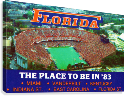 1983 college football florida gators place to be in 83  Canvas Print