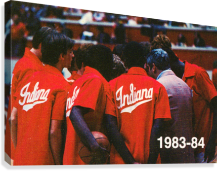 1983 INDIANA BASKETBALL ART ROW ONE BRAND  Canvas Print