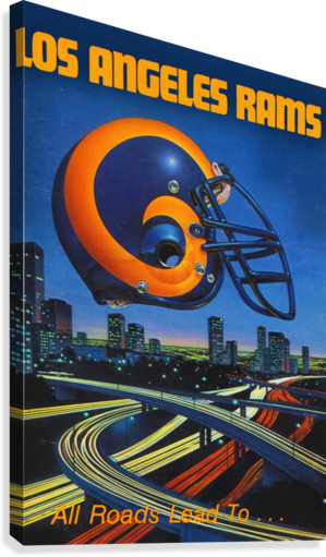 1983 Los Angeles Rams Football Poster  Canvas Print