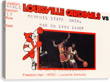 1983 MEMPHIS STATE VS. LOUISVILLE ROW ONE BRAND  Canvas Print
