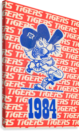 1984 DETROIT TIGERS BASEBALL POSTER ROW ONE BRAND  Canvas Print