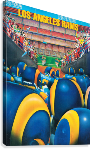 1984 Los Angeles Rams Enter The Field  Canvas Print