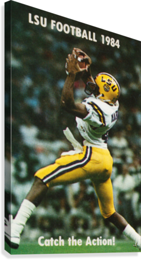 1984 LSU Tigers Football Catch The Action  Canvas Print
