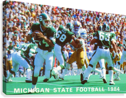 1984 Michigan State Football Poster  Canvas Print