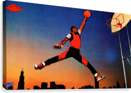 1985 Nike Promo Jordan Rookie Card Wall Art  Canvas Print