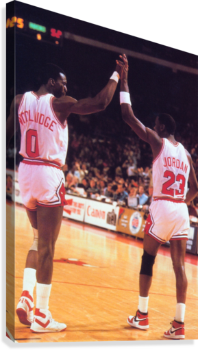 1985 BULLS HIGH 5 POSTER ROW ONE BRAND  Canvas Print