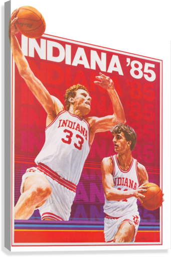 1985 Indiana Hoosiers Basketball Art  Canvas Print
