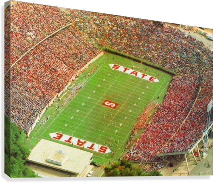 1985 nc state wolfpack carter finley stadium raleigh north carolina college football aerial photo  Canvas Print