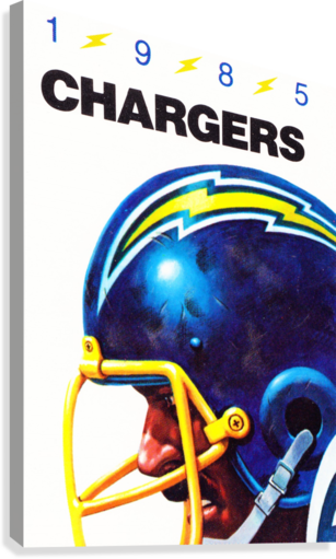 1985 San Diego Chargers Football Poster  Canvas Print