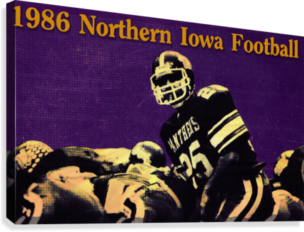 1986 Northern Iowa Panthers Football Poster  Canvas Print