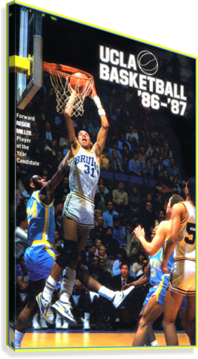 1986 UCLA BASKETBALL REGGIE MILLER POSTER ROW ONE BRAND  Canvas Print