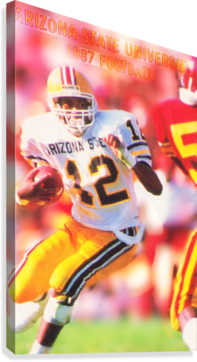 1987 Arizona State Football Poster  Canvas Print