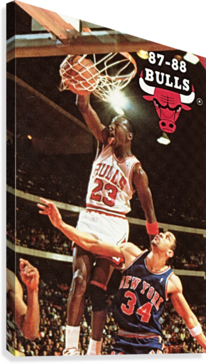 1987 Chicago Bulls Michael Jordan Art  Canvas Print