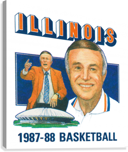 1987 Illinois Basketball Lou Henson  Canvas Print