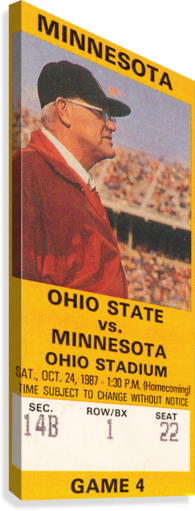 1987 Ohio State vs. Minnesota  Canvas Print
