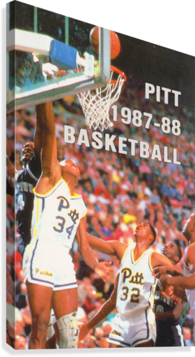 1987 PITT PANTHERS BASKETBALL ROW ONE BRAND  Canvas Print