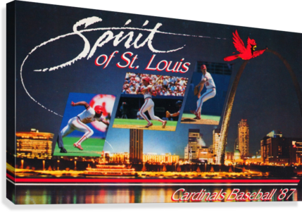 1987 ST. LOUIS CARDINALS BASEBALL ART ROW ONE BRAND  Canvas Print
