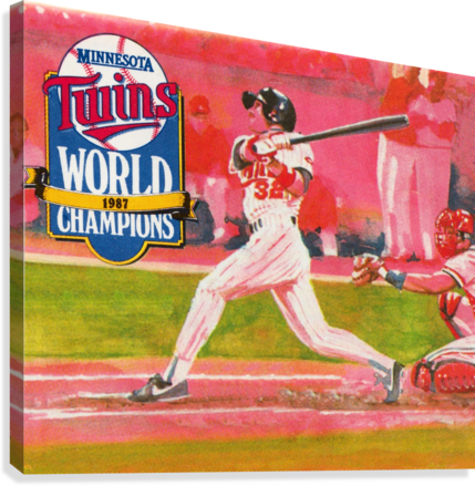1988 Minnesota Twins Baseball Art  Canvas Print
