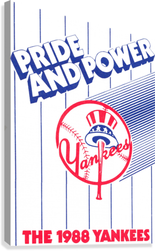 1988 New York Yankees Art  Canvas Print