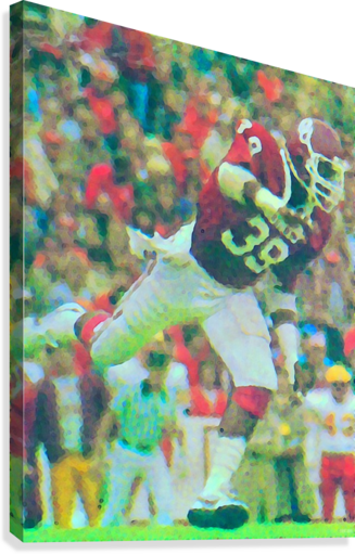 All American Kevin Murphy 39 Defensive End Oklahoma Football Art_OU Sooners Wall Art  Canvas Print