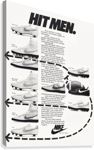Hit Men Nike Shoes Ad Poster Reproduction 1982  Canvas Print