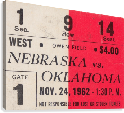 Oklahoma Sooners Owen Field Metal Sign_Ticket Stub Signs  Canvas Print