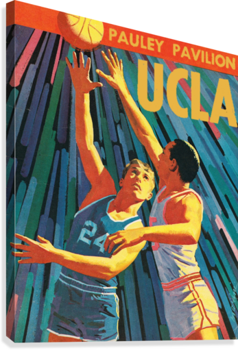 Vintage UCLA Bruins Basketball Poster  Canvas Print